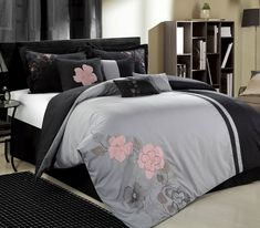 This 12-piece lavish comforter set comes with everything you need to do a complete makeover for your master or guest suite. Description from kmart.com. I searched for this on bing.com/images