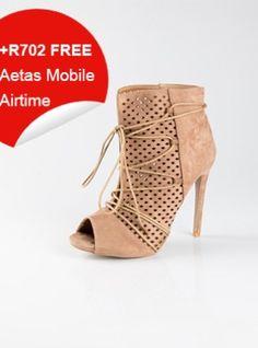 Suede High Heeled Boots (Beige) High Heel Boots, Heeled Boots, Peep Toe, Beige, Sandals, Heels, Stuff To Buy, Women, Fashion