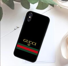 Gucci Black Stripe Case for iPhone 5 5s 6 6s 7 8 Plus X Samsung S Note  Cover + caf0ab6b176