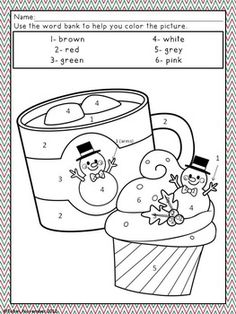 Christmas Activities- Christmas Coloring Pages by Jessica Tobin - Elementary Nest Color Activities, Winter Activities, Christmas Activities, Activities For Kids, Thanksgiving Activities, Christmas Math, Christmas Colors, Christmas Color By Number, Xmas