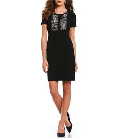 Looking for the perfect wear to work dress? Shop Dillard's Workshop for the latest styles in women's work and office dresses, available in plus and petite sizes. Work Dresses For Women, Office Dresses, Petite Size, Dillards, Knit Dress, Karl Lagerfeld, Work Wear, Knitting, Contrast