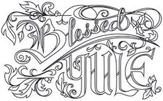 Blessed Yule | Urban Threads: Unique and Awesome Embroidery Designs