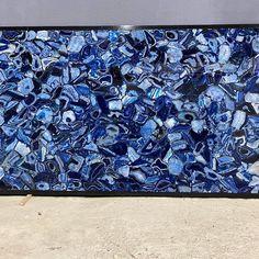 Semi Precious stone - Blue Agate Slab
