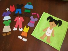 Dress Up Girl - Play Pocket - Quiet, Pretend Play - Customizable Hair and Skin Color