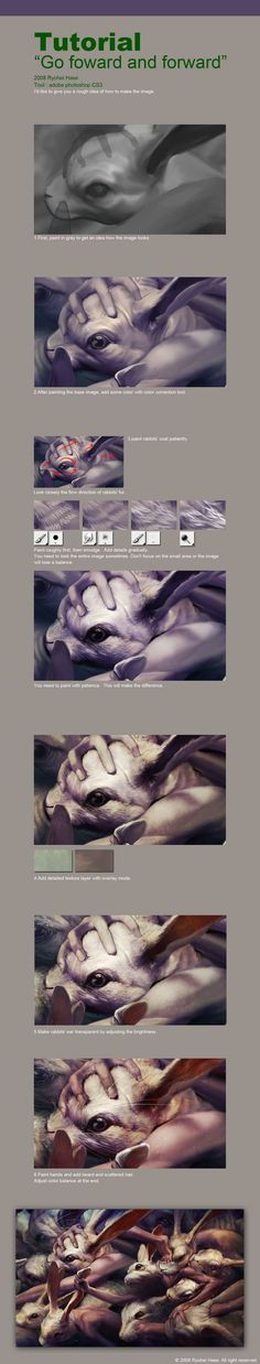 Ryohei Hase's digital painting tutorial/demonstration of technique.  More at http://ryohei-hase.deviantart.com