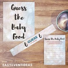 Silver and White Sparkle Baby Shower Guess the Baby Food Game Printable Instant Download by EasyEventIdeas on Etsy https://www.etsy.com/listing/603084501/silver-and-white-sparkle-baby-shower