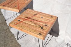 Reclaimed Oak Coffee Table Salvaged Train Timber by WickedBoxcar