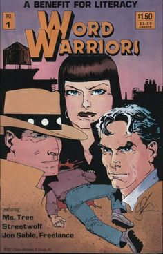 Comic Book - Literacy Volunteers of Chicago Inc. - Word Warriors No.1 A Benefit For Literacy featuring: Ms. Tree - Streetwolf - Jon Sable, Freelance 1987 #benefit #chicago #comicbooks