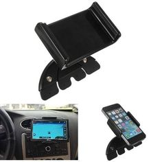 7Inch Adjustable Car CD Slot Mobile Mount Holder Stand For iPad Mini. 7 Inch Adjustable Car Cd Slot Mobile Mount Holder Stand For Ipad Mini1 2    description:  1. Made Of High Quality Rigid Plastic, Durable And Strong.  2. Easy To Install And Release On Vehicles Cd Slot -- No Suction Cup, No Sticky Pad Necessary.  3. No Tools Required -- Only One Hand Is Needed To Install Or Release This Mount.  4. Inserted Into Cd Player Loading Port, Where Device Controls Are Easily Accessible By The…