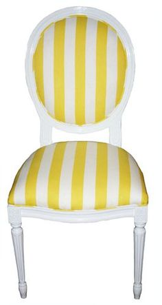 Attractive Sophia Chair. Striped ChairBright YellowColor ...