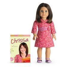 """American Girl DOLL Chrissa """"18"""" Doll and Book New NIB DOLL OF THE YEAR 2009"""