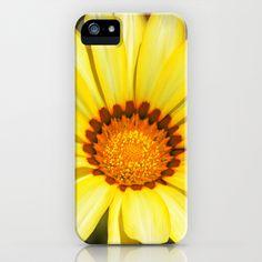 Yellow Sunny Spring Flower Gazania iPhone & iPod Case by Bluedarkat Lem - $35.00