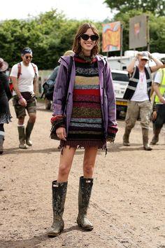 Alexa Chung at Glastonbury 2016.  Love.
