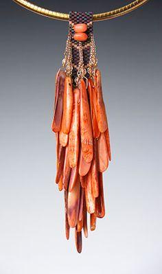 Beaded necklace by Kay Bonitz