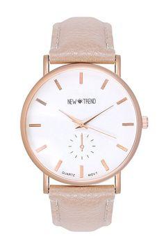 Trend Uhr Designer Roségold Damenuhr Chronograph Optik Farbe: Beige Creme Rose Rosegold Gold Armbanduhr Rosengold Rotgold Kupfer Bloggeruhr Trenduhr