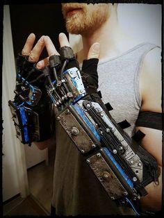 Work in progress arms for cyberpunk project for RPC 2017 im Köln