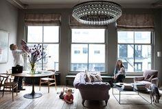 Harriet Mawell / Andrew Corrie  / Elle Decor {loft living room} by recent settlers, via Flickr