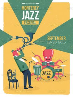 Monterey Jazz Festival Poster by Rodrigo Fortes on CreativeAllies.com