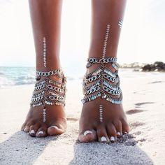 GypsyLovinLight: Grace Bijoux Tynuska Anklet – Silver