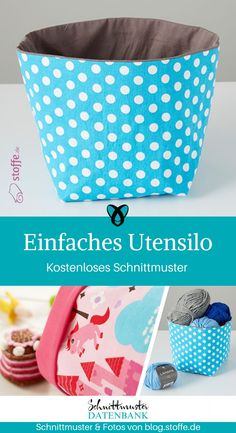 Simple utensil- Utensilo for beginners Sewing beginners sew free sewing patterns free of charge Instructions Idea Sewing idea Gift gift idea Freebie Freebook - Sewing Patterns Free, Free Sewing, Free Pattern, Knitting Patterns, Sewing Projects For Beginners, Knitting For Beginners, Knitting Projects, Diy Projects, Poncho Crochet
