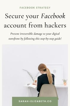 No one wants their Facebook account compromised so I'm giving you 5 easy steps to secure your Facebook account so your Facebook business page and Facebook group stay safe. By doing these 5 things, you will feel more relaxed promoting your business on social media. Utilize these Facebook tips so you can grow your Facebook page for your business and with confidence. Read the post now. | Sarah Elizabeth Facebook Strategist Facebook Marketing Strategy, Social Media Digital Marketing, Best Facebook, How To Use Facebook, Using Facebook For Business, Social Media Posting Schedule, Sarah Elizabeth, Business Pages, Stay Safe