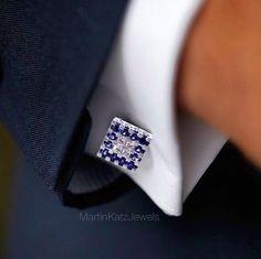 #jewelry #finejewelry #diamonds #sapphire #cufflinks #luxury #MartinKatz #MartinKatzJewels