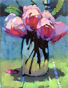 Pink Bunch by Trisha Adams Oil 12 x 9 Arte Floral, Selling Paintings, Abstract Flowers, Whimsical Art, Art Oil, Flower Art, Art Flowers, Art Lessons, Watercolor Paintings