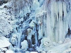 """""""Ice Falls"""" at Akron Falls Park in Akron, New York!  by Eric Shreves"""