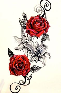 Vintage Rose Temporary Tattoo #TattooIdeasQuote
