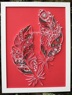 Ayani art: Quilling Feathers                                                                                                                                                     More