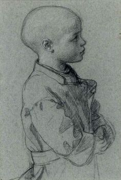 Isidore Pils ~ Portrait of a child