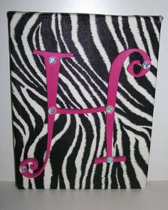 Wood letter on canvas