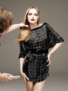 sequined dress: black sequined dress
