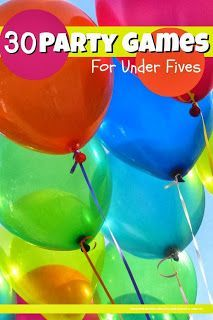 Over 30 ideas for fun party games for children under five PLUS loads of other party ideas @Mums make lists ... #kids #parenting
