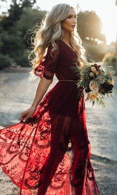 Trend we love: Burgundy Bridesmaid Dresses! The lace flutter sleeve is so romantic, can we get an Amen?!?  #WeddingGoals #Bridesmaids #BurgundyDress #BurgundyWedding #WeddingInspo #OhWowYes #ThatsDarling #2017 #Pretty