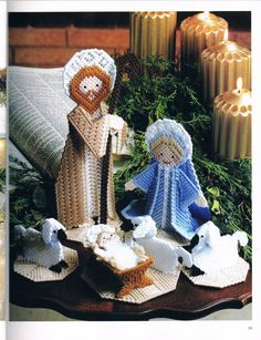 CHARMING NATIVITY by DICK MARTIN 2/11 - FROM A FESTIVE CHRISTMAS IN PLASTIC CANVAS BOOK ELEVEN