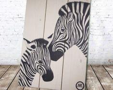 Zebra Hand Painted Rock Wild Animals Painting by RockArtAttack