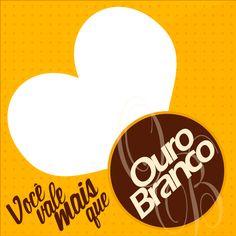Adesivo para Caixa de Bombom Dia dos Namorados Ouro Branco Photoshop, Symbols, Letters, Chocolate, 1, Boutique, Blog, Candy Boxes, Dating