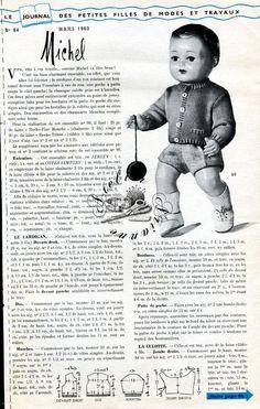 ❤ Page originale, Poupée Michel MODES ET TRAVAUX, Mars 1960 ❤ : 1,99 EUR
