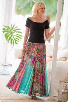 Such a bright skirt!