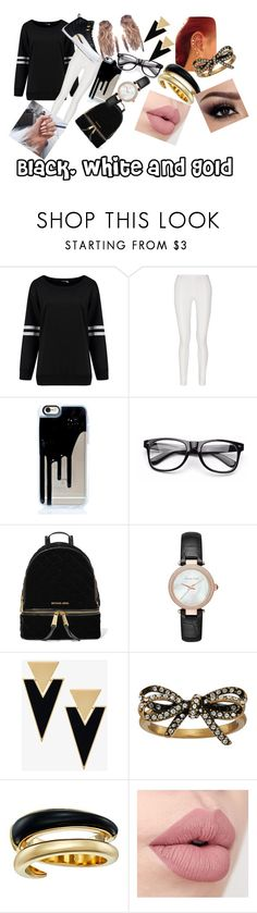 """I saw those shoes and I had to make a set!!!"" by queen71304 ❤ liked on Polyvore featuring Donna Karan, MICHAEL Michael Kors, Yves Saint Laurent, Marc Jacobs and Michael Kors"