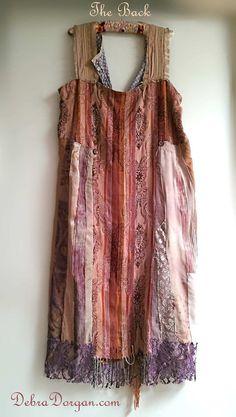 Automne Textiles robe pourpres pêches Orange par AllThingsPretty