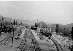 Railroad Depot in 1924 Pocatello Idaho, Pioneer Day, My Own Private Idaho, Union Pacific Railroad, Train Stations, Train Tracks, Old Buildings, Main Street, Trains