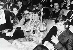 Peter Sellers Mia Farrow and Roman Polanski at the premiere of Rosemary's Baby