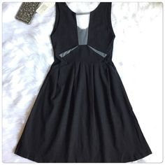 ‼️SALE‼️🎉HP🎉 Stylish O-neck Sexy Stretch Dress Unique style, makes you look beautiful, fashionable and elegant. Very cool style have a see through on the side and the front. The material is stretchable made from cotton blend.                                                                                                                                         ✅Price is firm unless bundle Dresses Mini