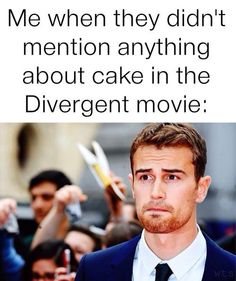 ~Divergent~ ~Insurgent~ ~Allegiant~ I'm glad it was at least on the deleted scenes Divergent Memes, Divergent Film, Divergent Hunger Games, Divergent Fandom, Divergent Insurgent Allegiant, Divergent Fan Art, Divergent Cake, Divergent Plot Twist, Divergent Fanfiction
