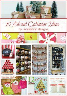 10 of the very best Advent Calendar Ideas via Uncommon Designs 12 Days Of Christmas, A Christmas Story, Christmas Holidays, Christmas Crafts, White Christmas, Christmas Ideas, Diy Advent Calendar, Countdown Calendar, Calendar Ideas