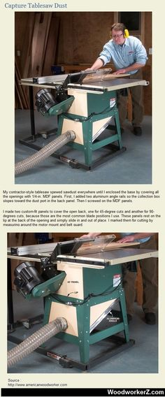 Capture Tablesaw Dust