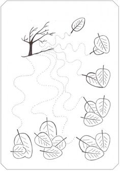 fall tree trace line worksheet