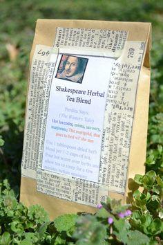 shakespeare herbal tea blend:  inspiring packaging idea ...